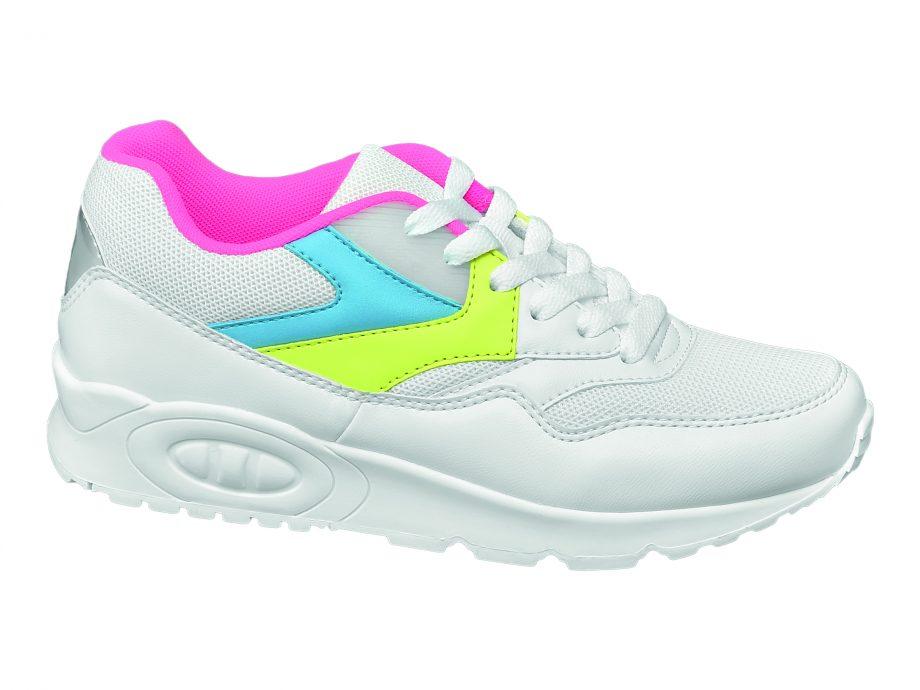 sneaker pastello - sneaker bianca con dettagli multicolor, Deichmann