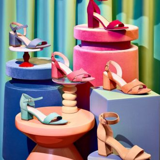 sandali da donna - sandali color pastello, Deichmann