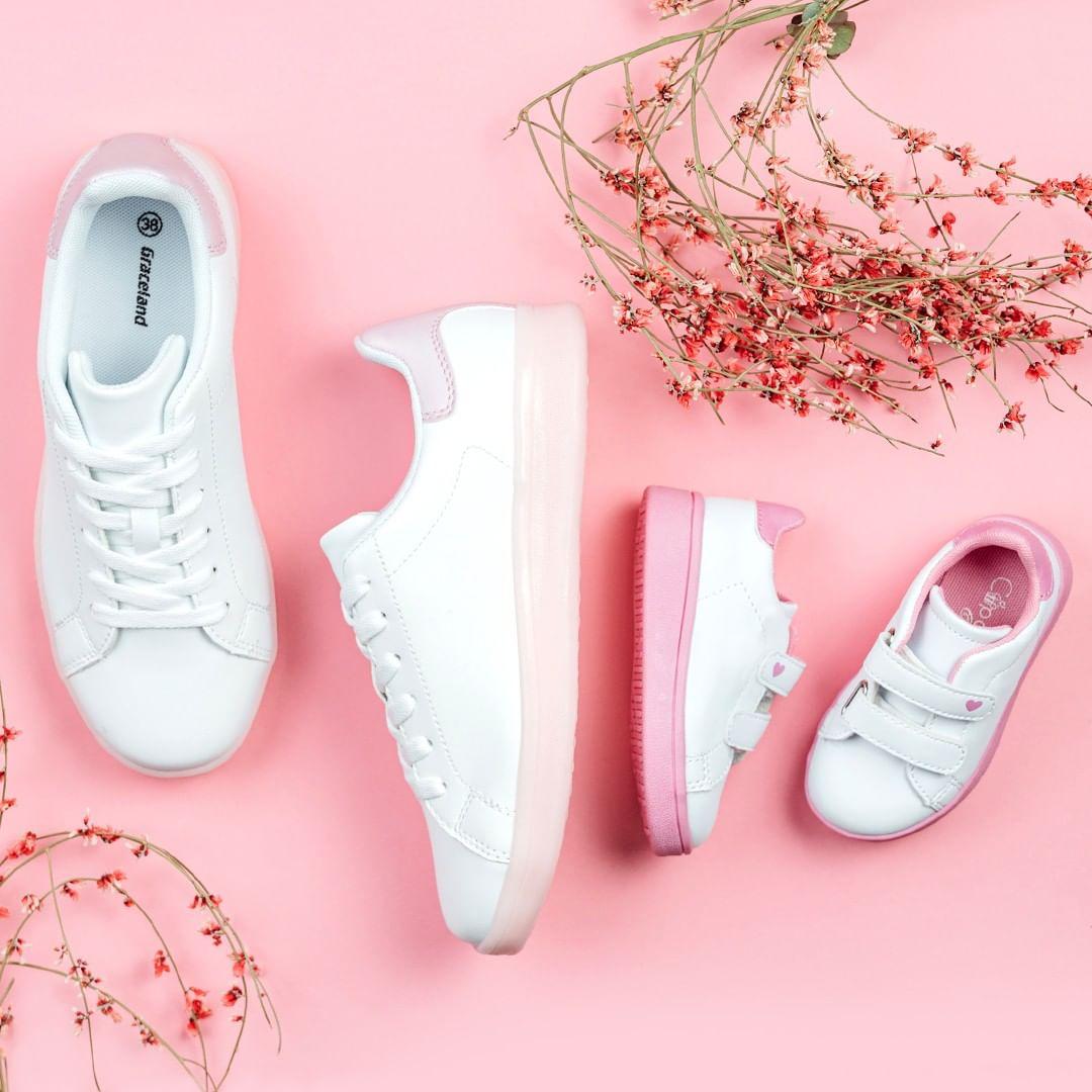 Sneaker Graceland con dettaglio rosa, Deichmann