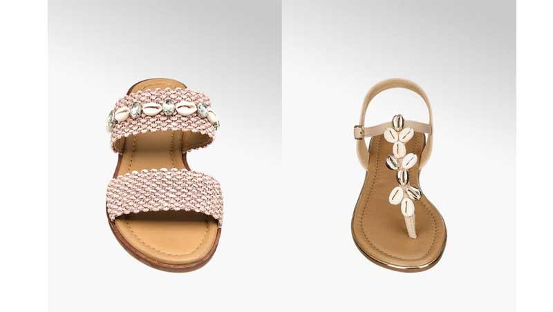 sandaletti con dettaglio conchiglie, Deichmann