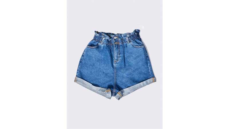 look da spiaggia - Shorts in denim a vita alta, Alcott Los Angeles