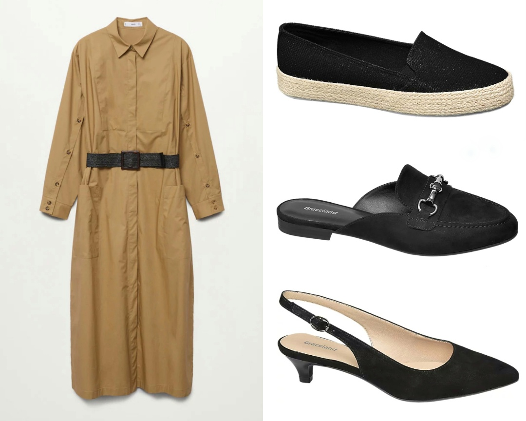 scarpe per maxi dress