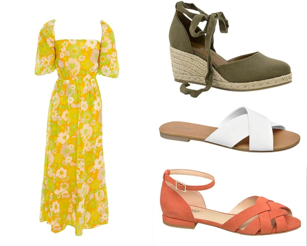 abito anni 70 e calzature