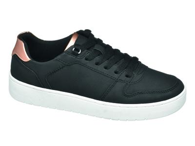 Black & Gold sneaker con suola bianca