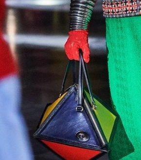 Borse shocking - borsa geometrica con dettagli fluo