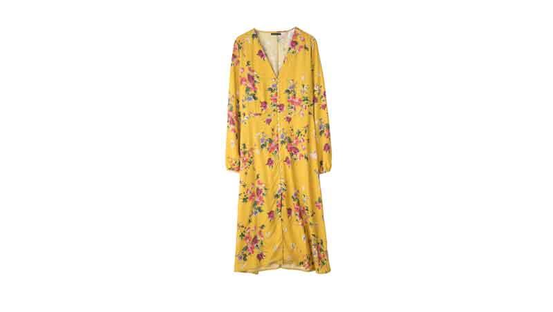 Outfit estivi - Vestito floreale giallo, Stradivarius