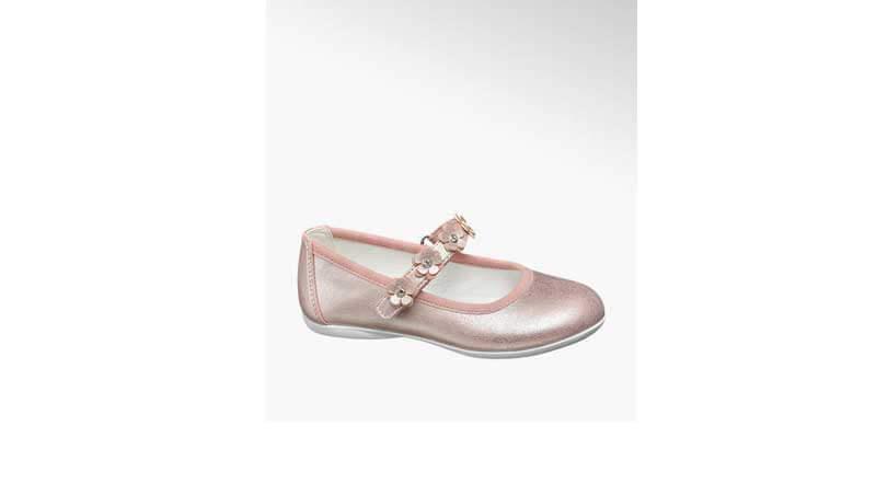 Ballerine per bambina rosa con cinturino, Deichmann
