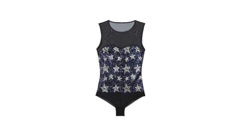 Outfit di Capodanno 2019 - Body con corpetto decorato con stelle glitter silver, Intimissimi