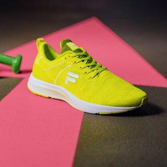 5 esercizi per tenersi in forma - Sneakers Fila fluo, Deichmann