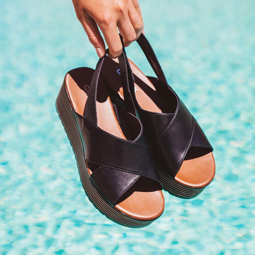 Sandali con o senza tacco - Sandali con intreccio nero e platform, Deichmann