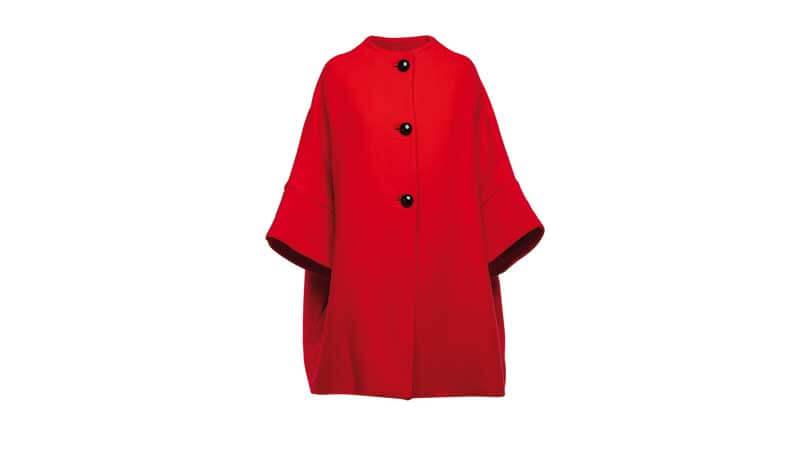 7 capi rossi - cappotto rosso con bottoni neri