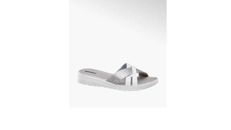 Sandali bassi da donna - Ciabattina argento, Deichmann