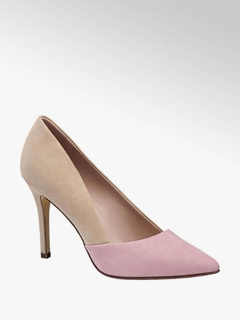 Décollettés bicolore con punta in rosa cipria, Deichmann