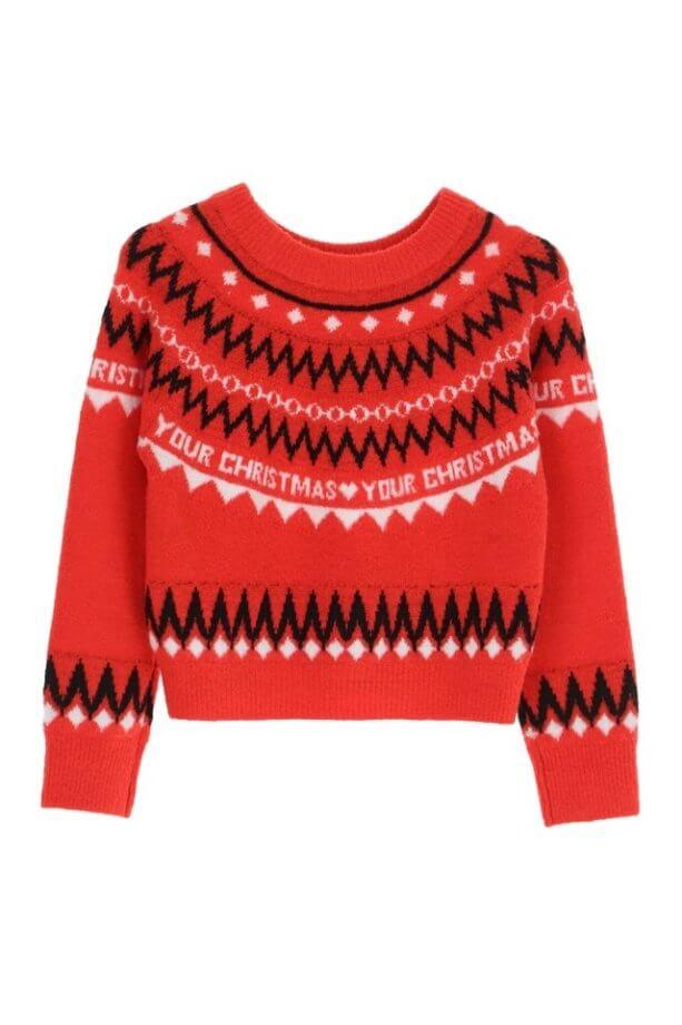 maglioni natalizi - maglione con dettaglio scritta your Christmas