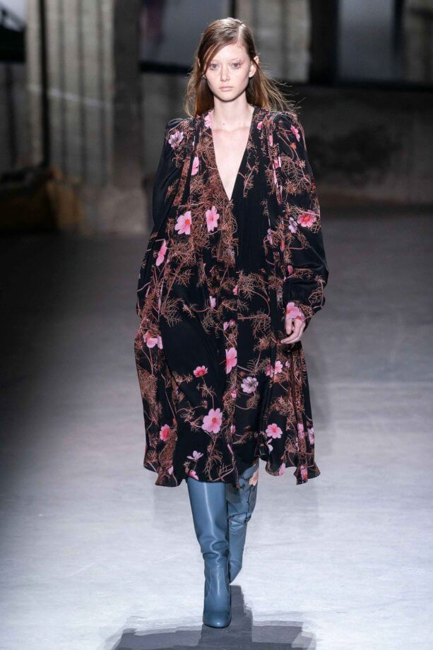 floreale in autunno - Dries Van Noten // Photo Credit Vogue.com