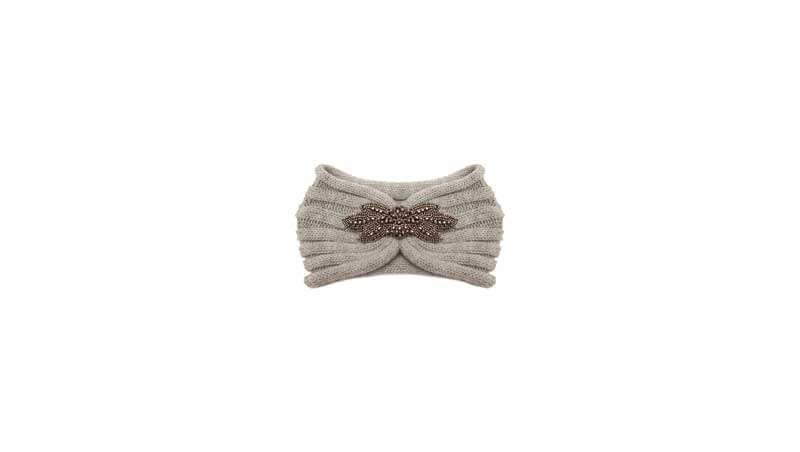 Cappelli invernali - Fascia in lana con dettaglio gioiello