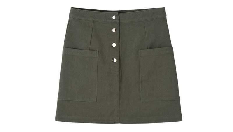 Denim skirt - gonna in denim militare, Kiabi