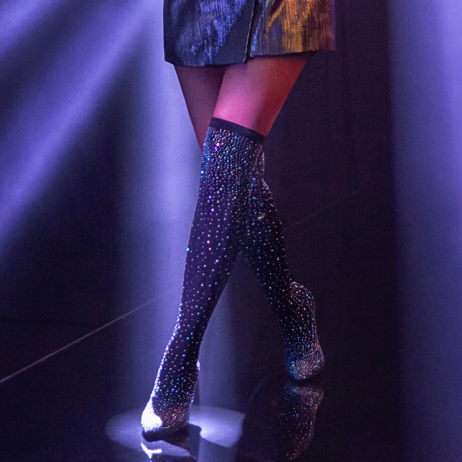 Rita Ora for Deichmann - Overknee glitter, Deichmann