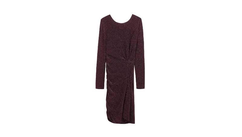 Outfit di Capodanno 2019 - Mini dress nero con brillantini silver Bershka