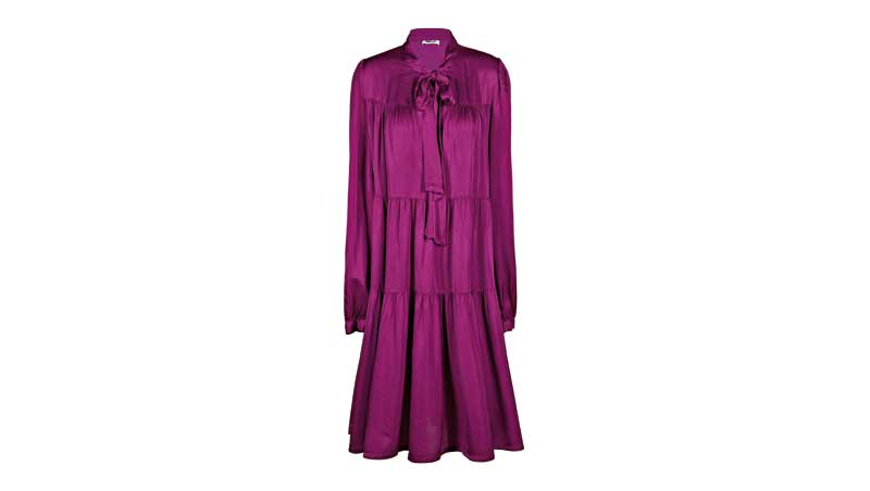 Silhouette femminile - Midi dress viola, Replay