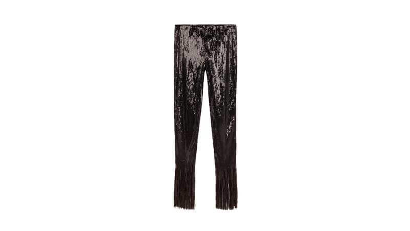 Outfit di Capodanno 2019 - Pantaloni neri con frange Bershka