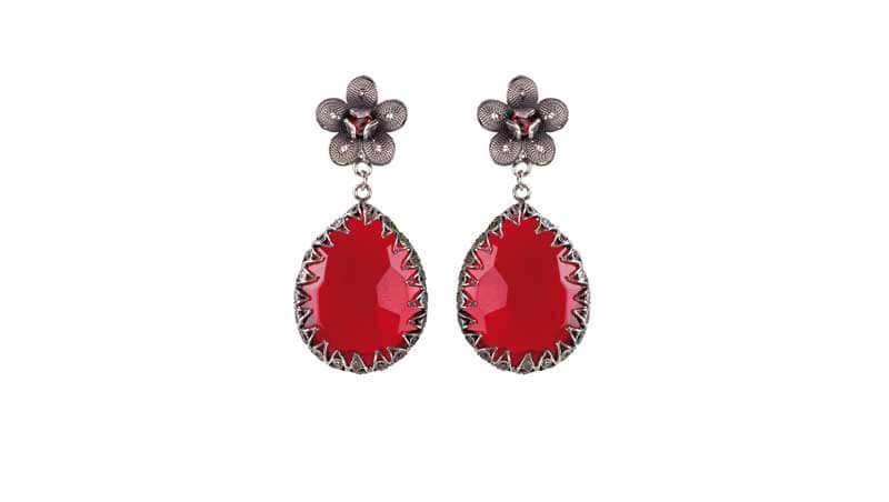 7 capi rossi - orecchini pendenti Yvonne Christa