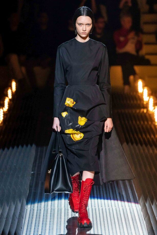 floreale in autunno - Prada // Photo Credit Vogue.com