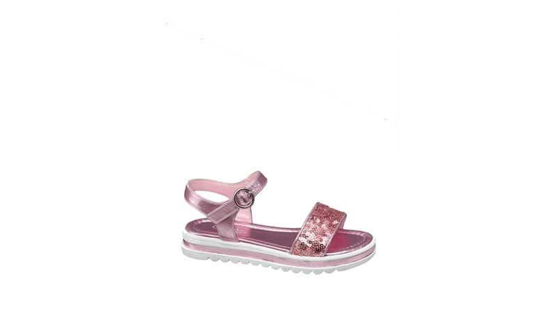 Sandali bimba platform rosa con dettaglio glitter, Deichmann