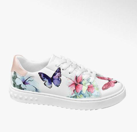 Scarpe sportive - Sneaker bianca con dettagli bucolici, Deichmann