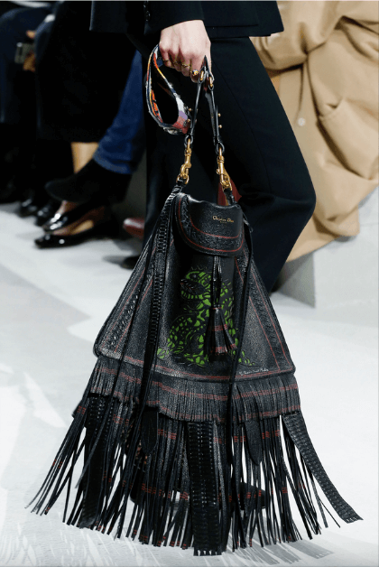 Fringed bags - Borsa a tracolla nera