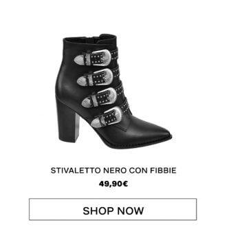 Rita Ora for Deichmann - Stivaletto nero con fibbie, Deichmann