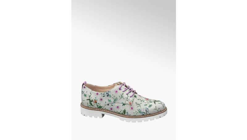 Scarpe stringate - Stringata con motivi floreali, Deichmann