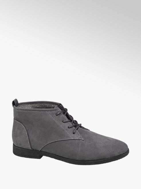 Scarpe stringate da donna - polacchino scamosciato grigio