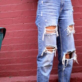 denim - jeans trendy con strappi