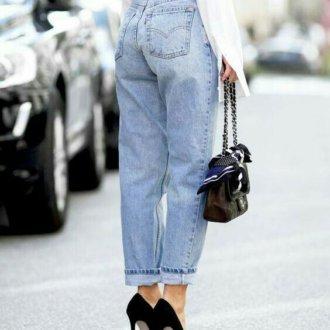 denim - jeans chiari a vita alta