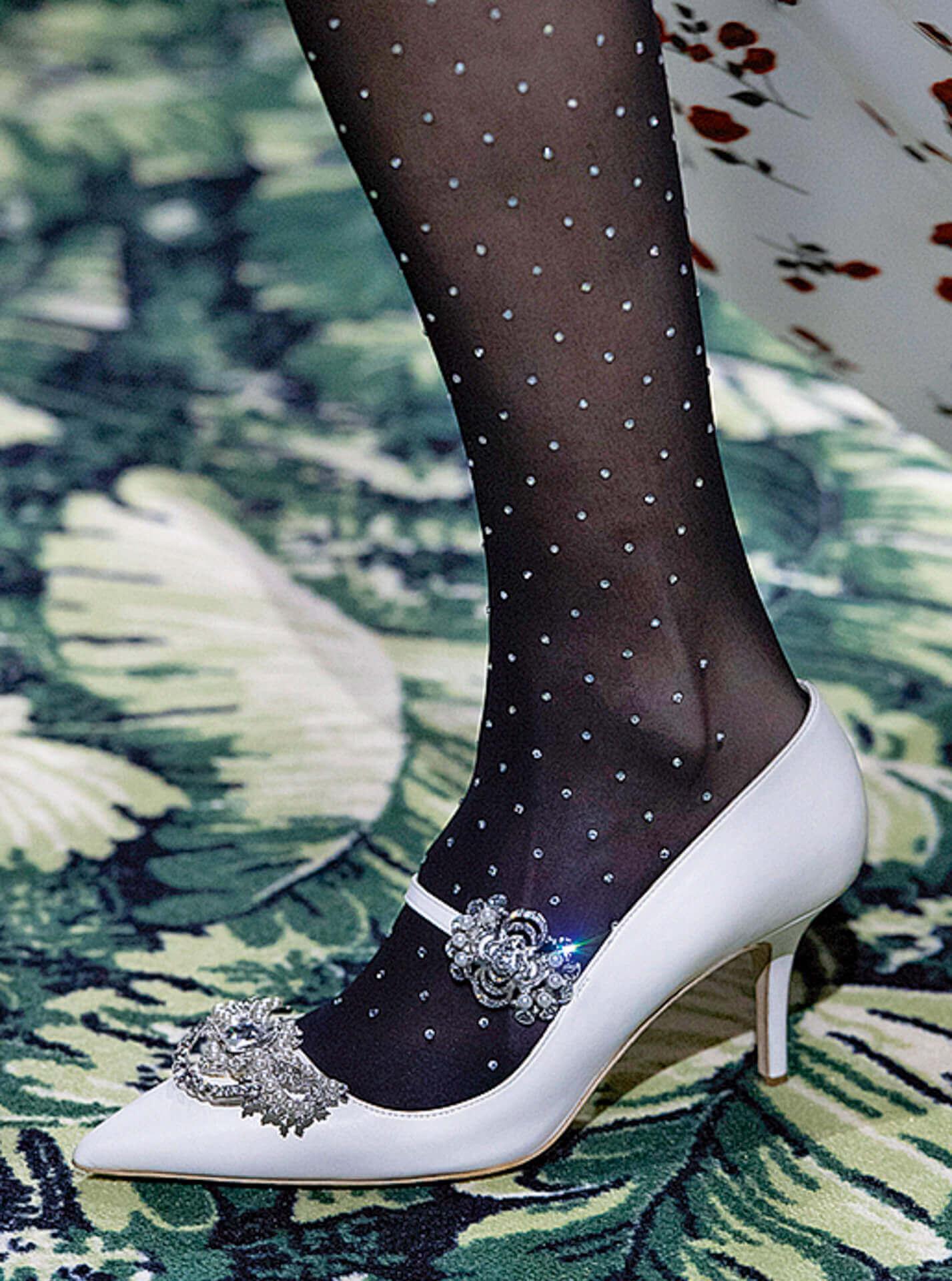 Eleganter Style vom Runway bei Paco Rabanne © Jason Lloyd Evans