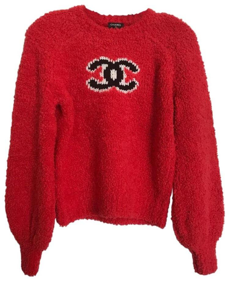 maglioni natalizi - maglione rosso Chanel