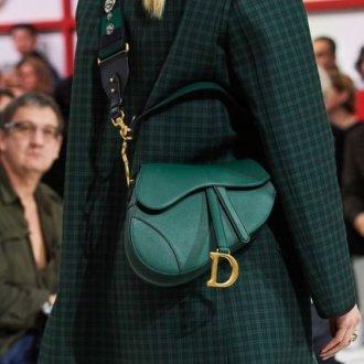 Borse con fibbie - Borsa a sella verde Dior