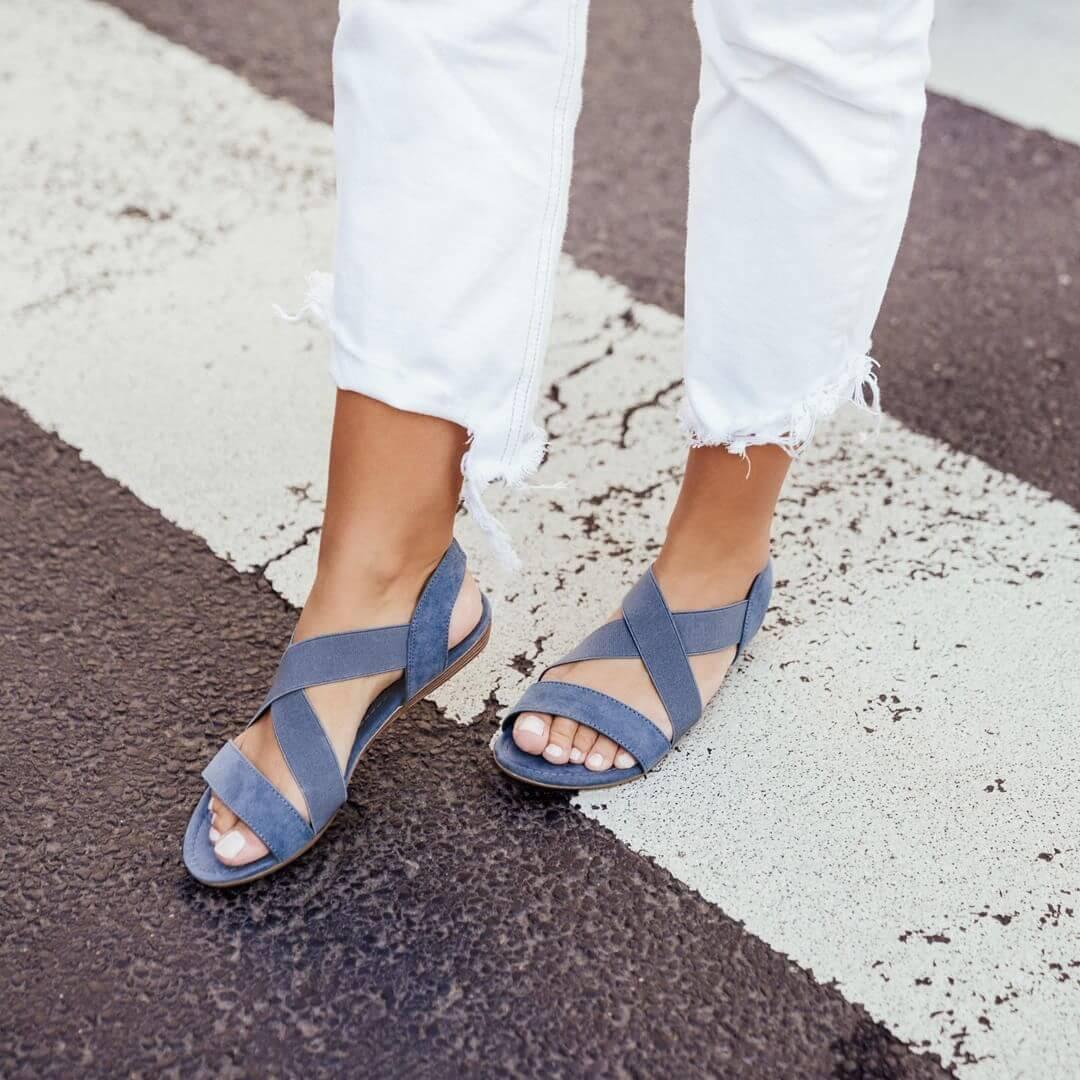 sandali con o senza tacco - Sandaletto ceruleo, Deichmann