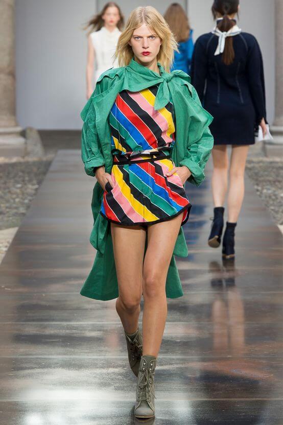 Arcobaleno - Mini dress a righe colorate