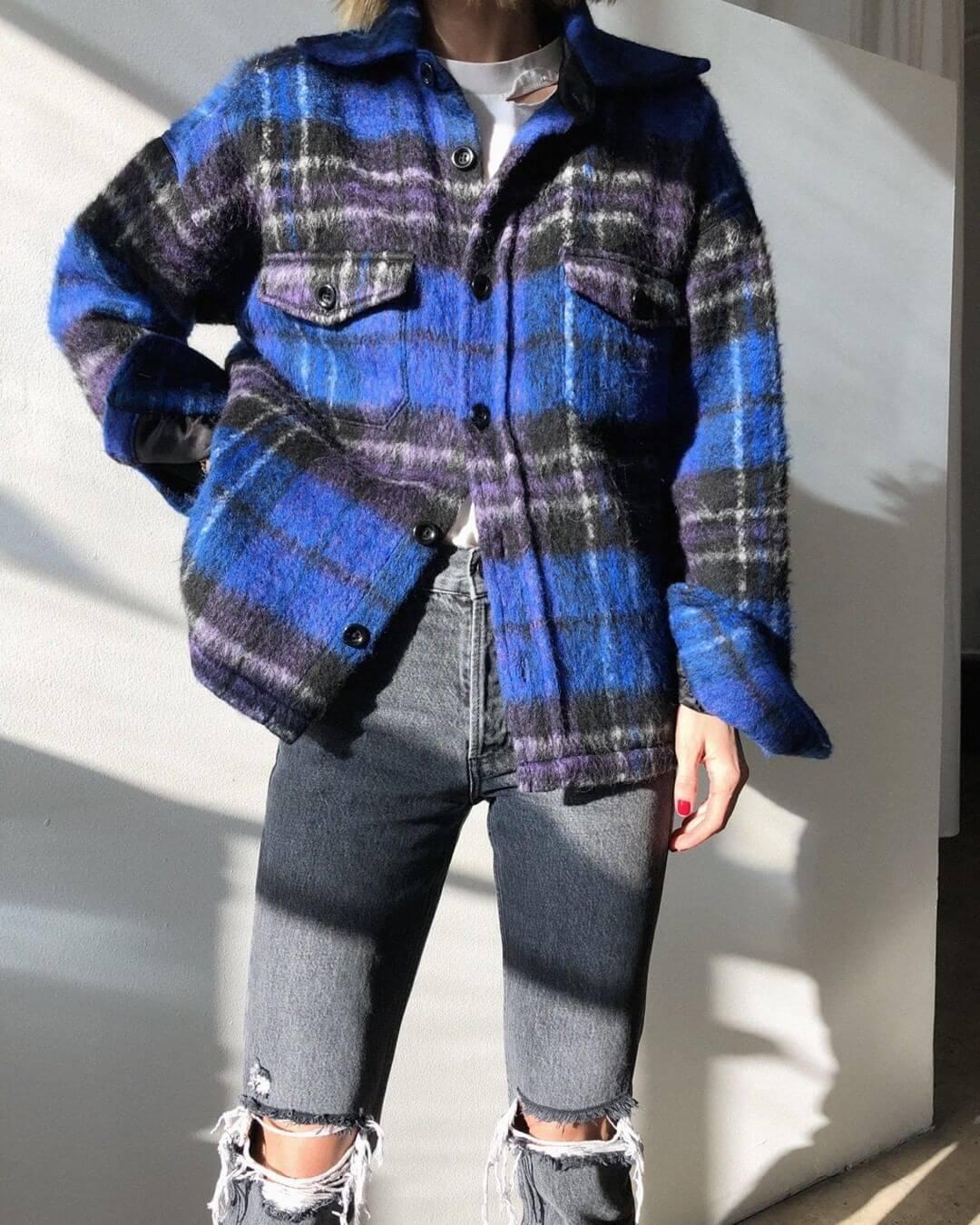 giacca plaid