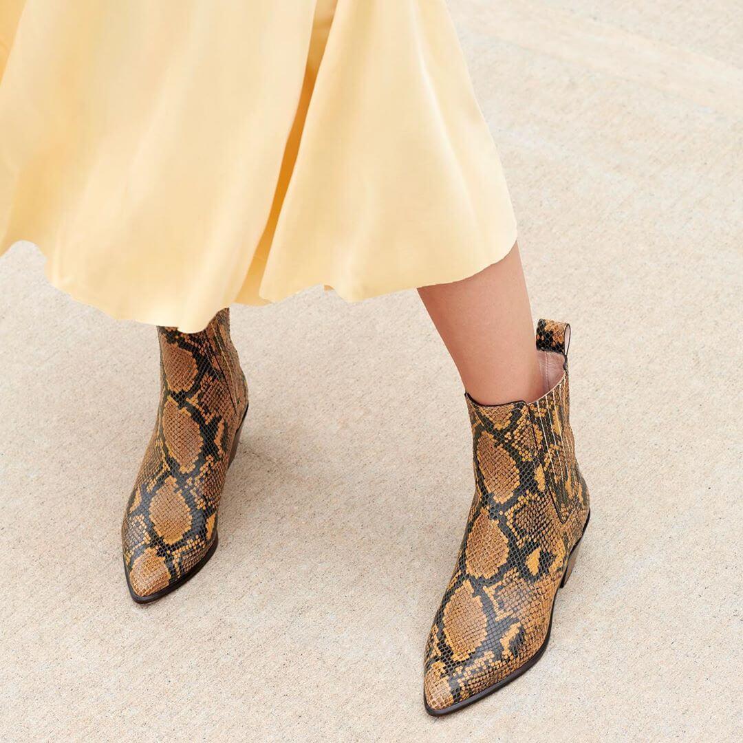 gonne per l'autunno - Con gli ankle boots pitonati
