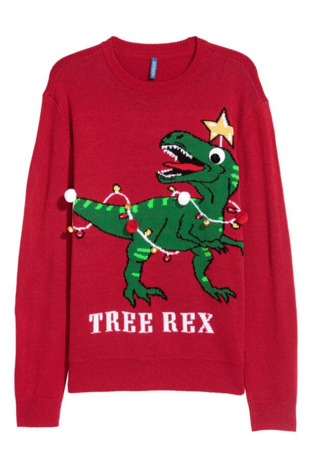 Maglioni natalizi - maglione con T-rex