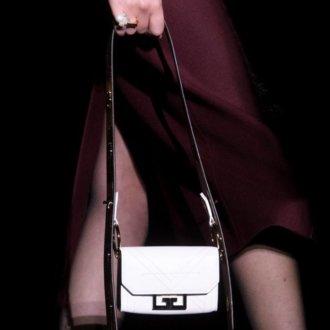 Borse micro - borsa bianca con dettagli neri in contrasto