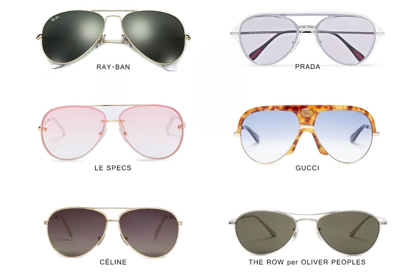 occhiali da sole aviator