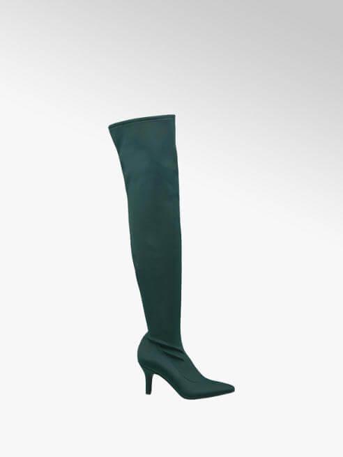 Stivale overknee effetto calza verde - Deichmann
