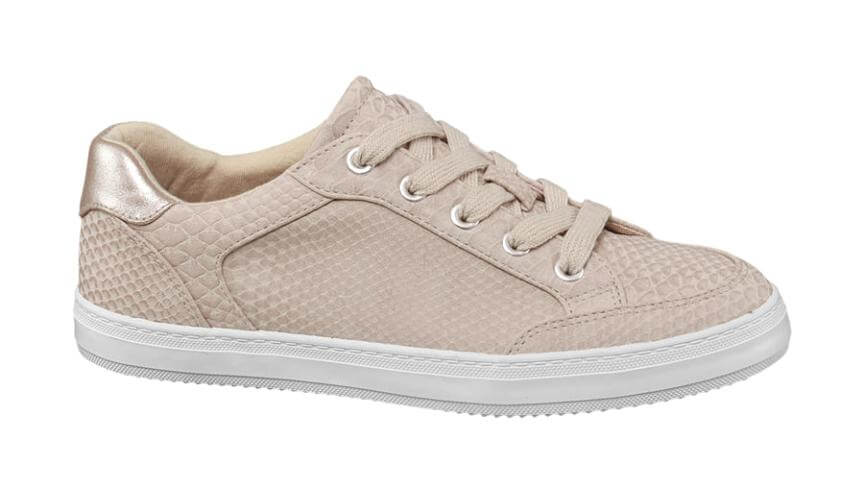 Stampa pitonata - Sneaker rosa effetto pitonato