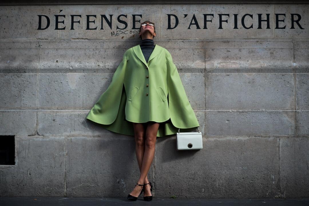 verde mela blazer moda