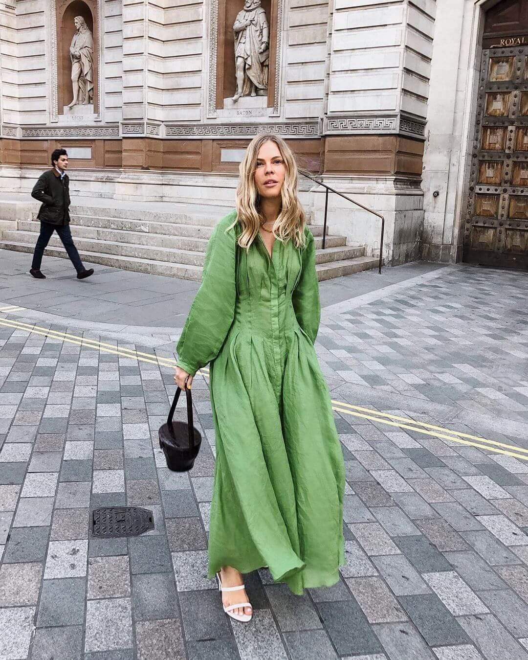 verde mela maxi dress