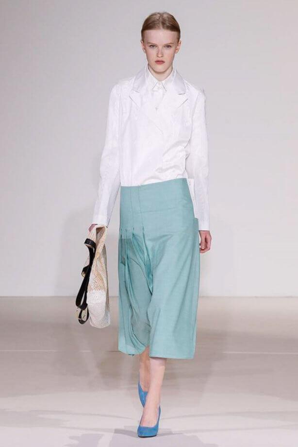 Toni pastello - Pantaloni crop azzurri